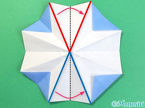 折り紙で立体的な富士山の折り方手順27