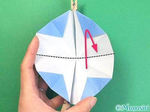 折り紙で立体的な富士山の折り方手順29