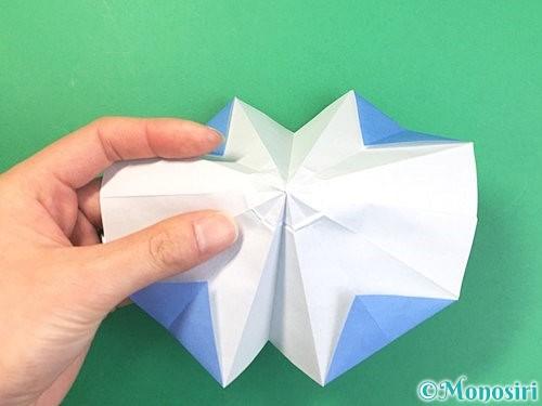 折り紙で立体的な富士山の折り方手順30