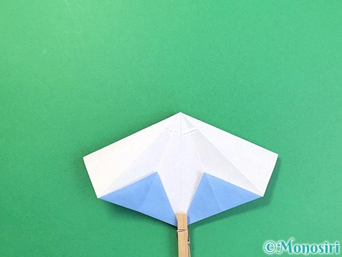 折り紙で立体的な富士山の折り方手順31