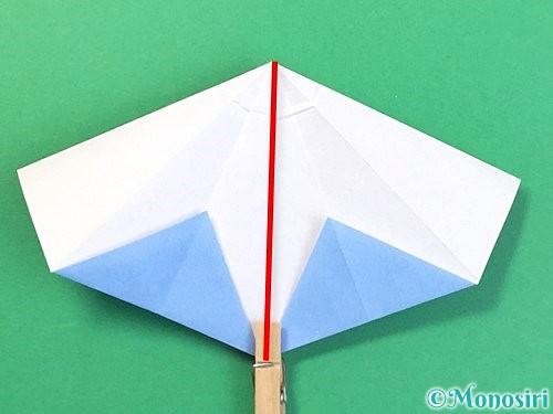 折り紙で立体的な富士山の折り方手順32