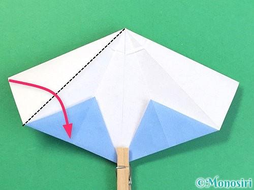 折り紙で立体的な富士山の折り方手順33