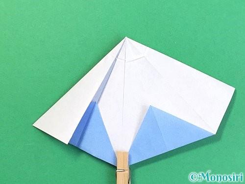 折り紙で立体的な富士山の折り方手順34