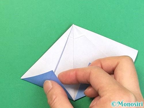 折り紙で立体的な富士山の折り方手順36