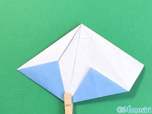 折り紙で立体的な富士山の折り方手順37