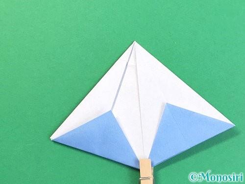 折り紙で立体的な富士山の折り方手順38