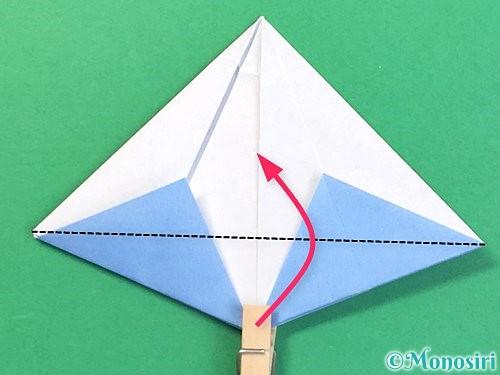 折り紙で立体的な富士山の折り方手順39