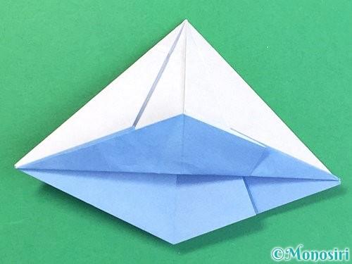 折り紙で立体的な富士山の折り方手順40