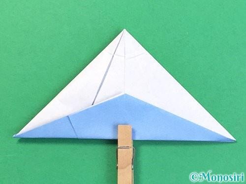 折り紙で立体的な富士山の折り方手順41