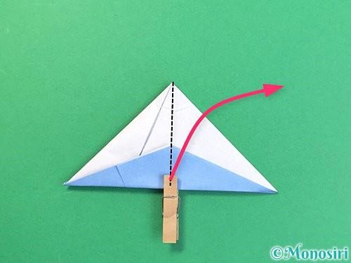 折り紙で立体的な富士山の折り方手順42