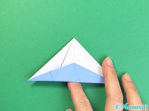 折り紙で立体的な富士山の折り方手順43