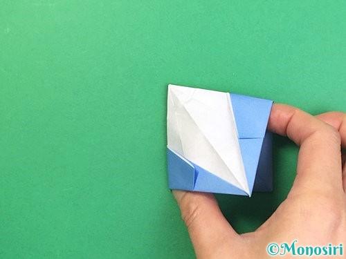 折り紙で立体的な富士山の折り方手順45
