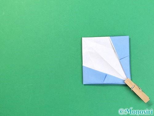折り紙で立体的な富士山の折り方手順46