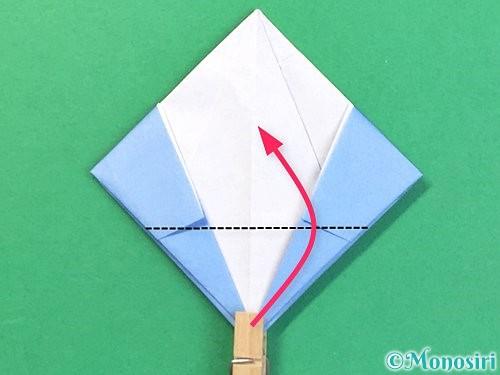 折り紙で立体的な富士山の折り方手順47