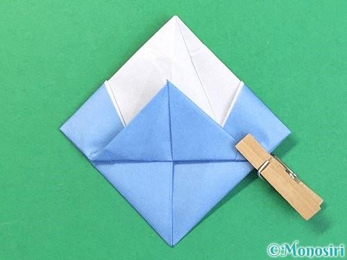 折り紙で立体的な富士山の折り方手順48