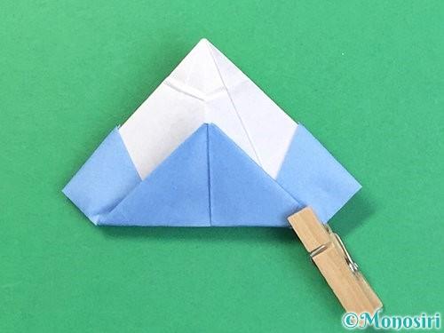 折り紙で立体的な富士山の折り方手順49