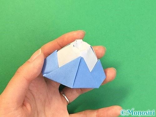 折り紙で立体的な富士山の折り方手順53