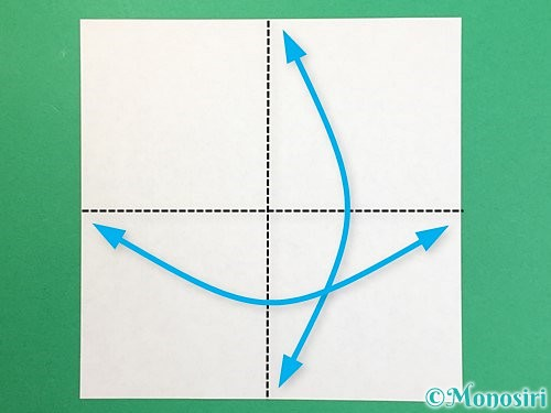 折り紙で鶴リースの作り方手順1