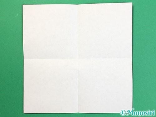 折り紙で鶴リースの作り方手順2
