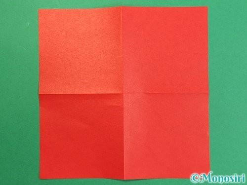 折り紙で鶴リースの作り方手順3