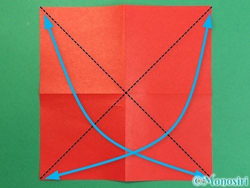 折り紙で鶴リースの作り方手順4