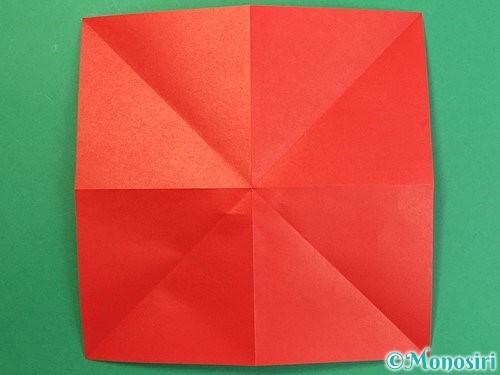 折り紙で鶴リースの作り方手順5
