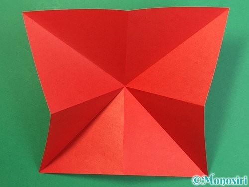 折り紙で鶴リースの作り方手順6