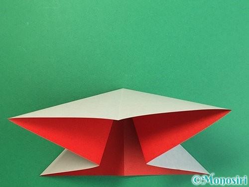 折り紙で鶴リースの作り方手順7