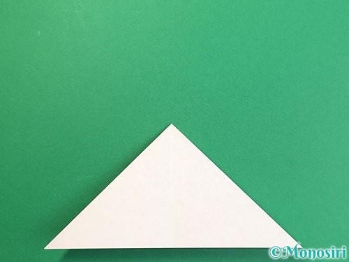 折り紙で鶴リースの作り方手順8