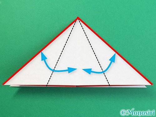 折り紙で鶴リースの作り方手順9