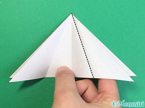 折り紙で鶴リースの作り方手順11