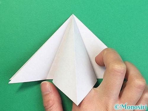 折り紙で鶴リースの作り方手順12
