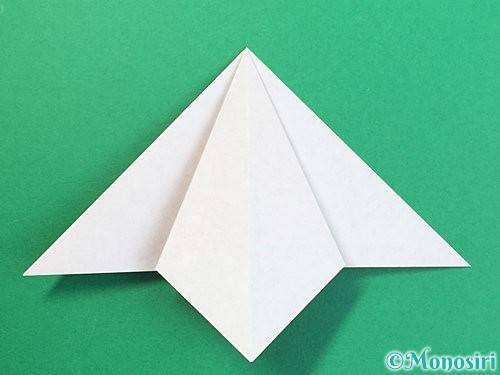 折り紙で鶴リースの作り方手順13