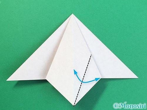 折り紙で鶴リースの作り方手順14