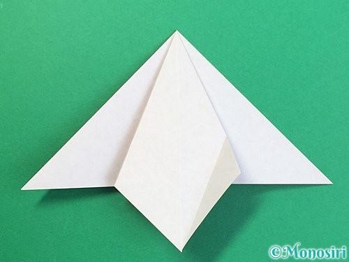 折り紙で鶴リースの作り方手順15