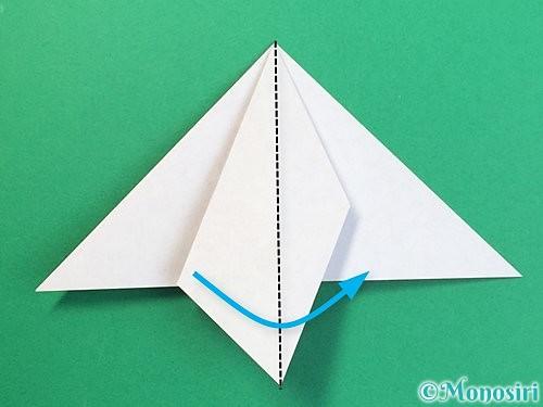 折り紙で鶴リースの作り方手順21