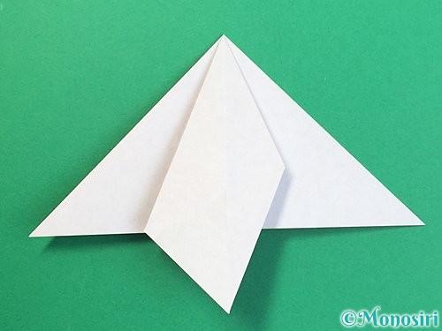 折り紙で鶴リースの作り方手順20