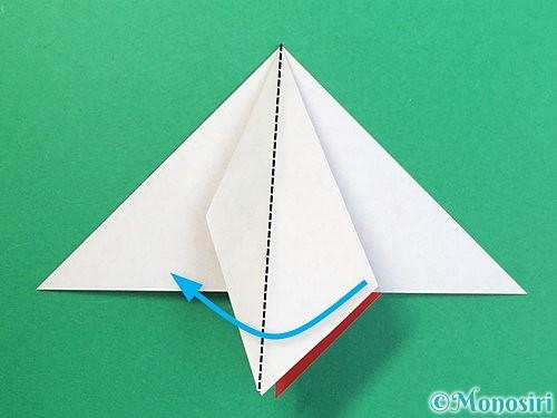折り紙で鶴リースの作り方手順23