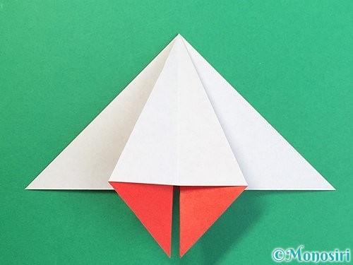 折り紙で鶴リースの作り方手順24