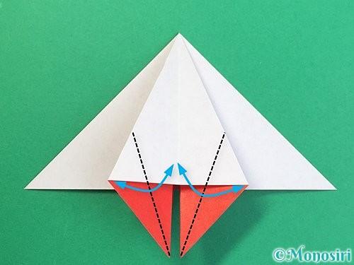 折り紙で鶴リースの作り方手順25