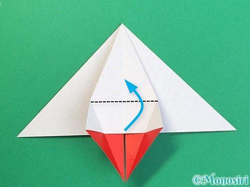 折り紙で鶴リースの作り方手順27