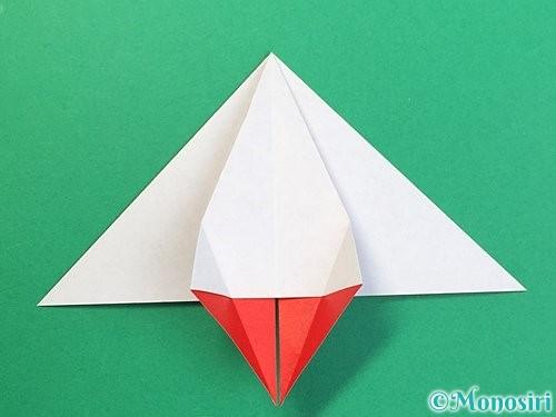 折り紙で鶴リースの作り方手順26