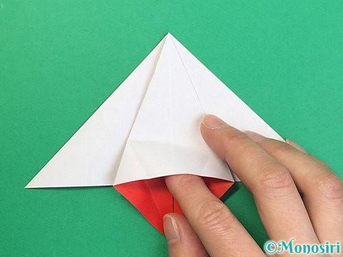 折り紙で鶴リースの作り方手順28