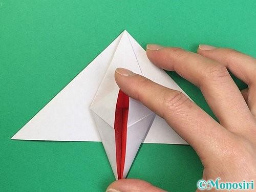 折り紙で鶴リースの作り方手順29