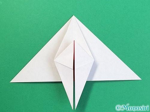 折り紙で鶴リースの作り方手順30