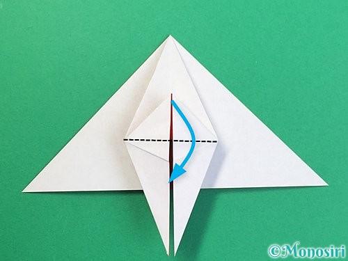 折り紙で鶴リースの作り方手順31