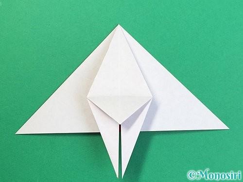 折り紙で鶴リースの作り方手順32