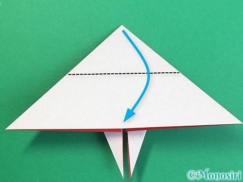 折り紙で鶴リースの作り方手順34