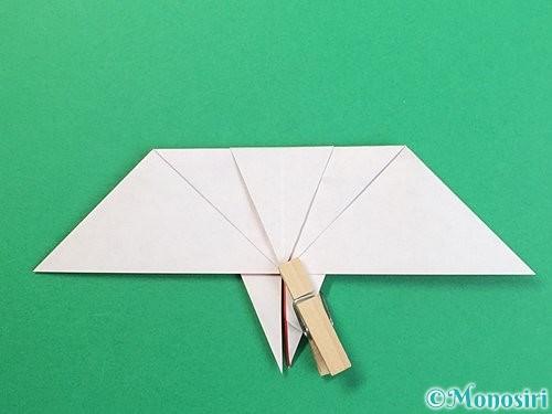 折り紙で鶴リースの作り方手順35