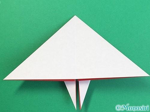 折り紙で鶴リースの作り方手順33